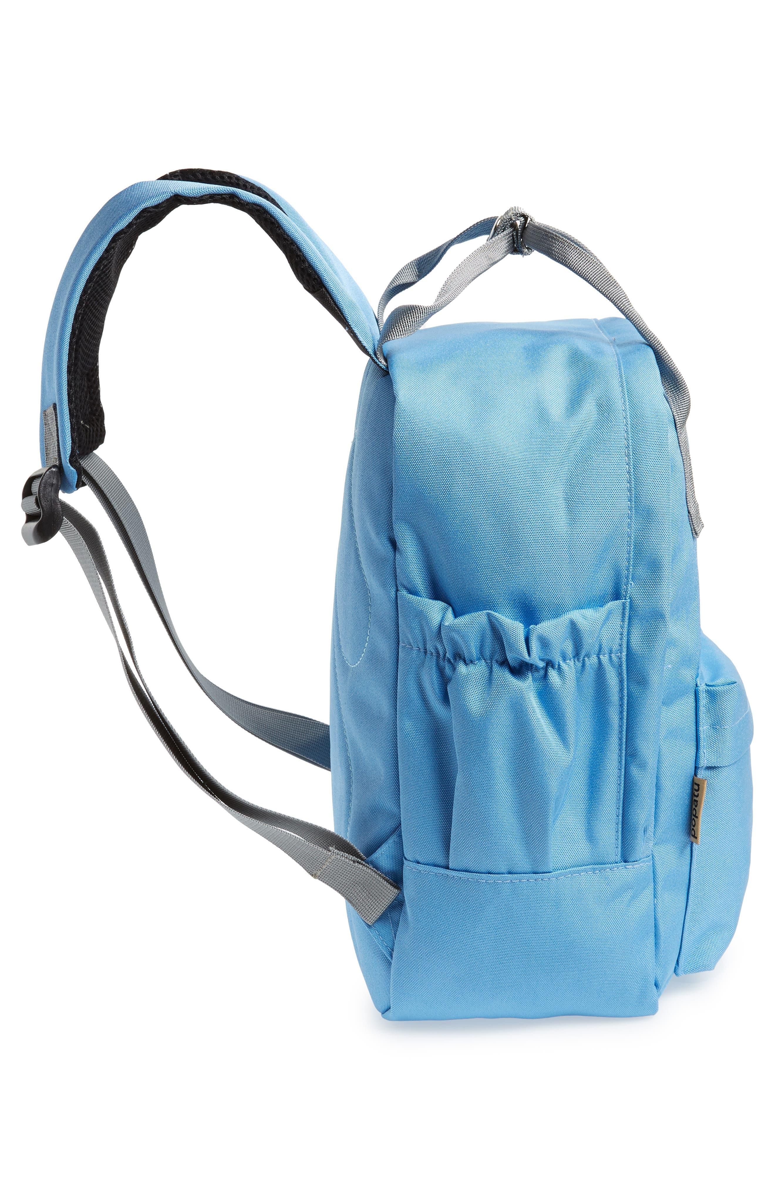 Solid Backpack,                             Alternate thumbnail 3, color,                             Light Blue/ Grey
