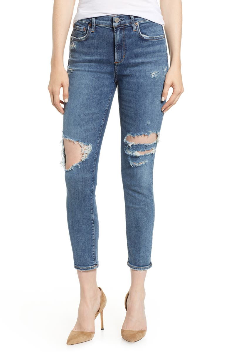 Sophie Ripped High Waist Crop Jeans