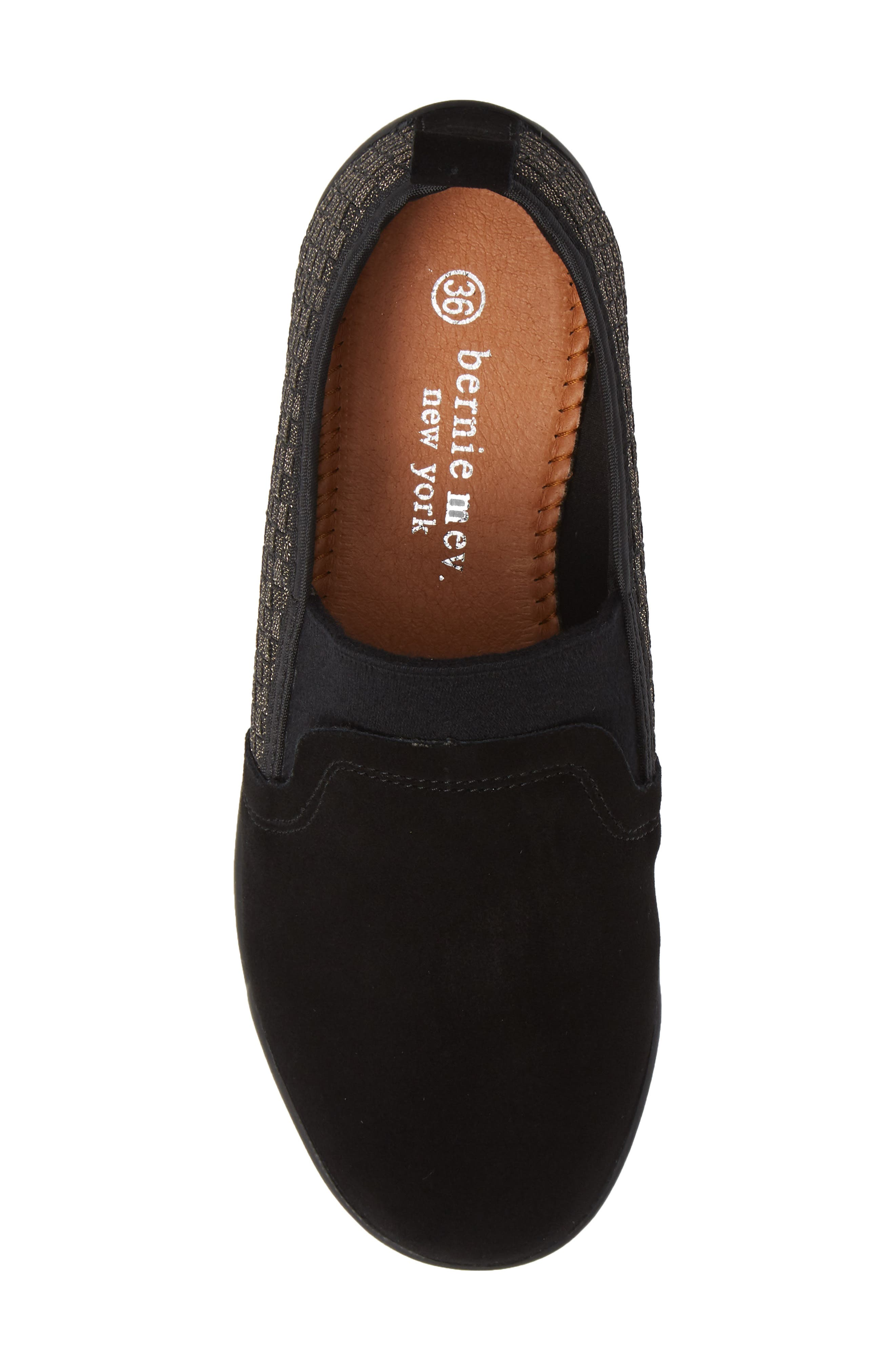 Swift Slip-On Sneaker,                             Alternate thumbnail 4, color,                             Gold Black Shimmer Leather