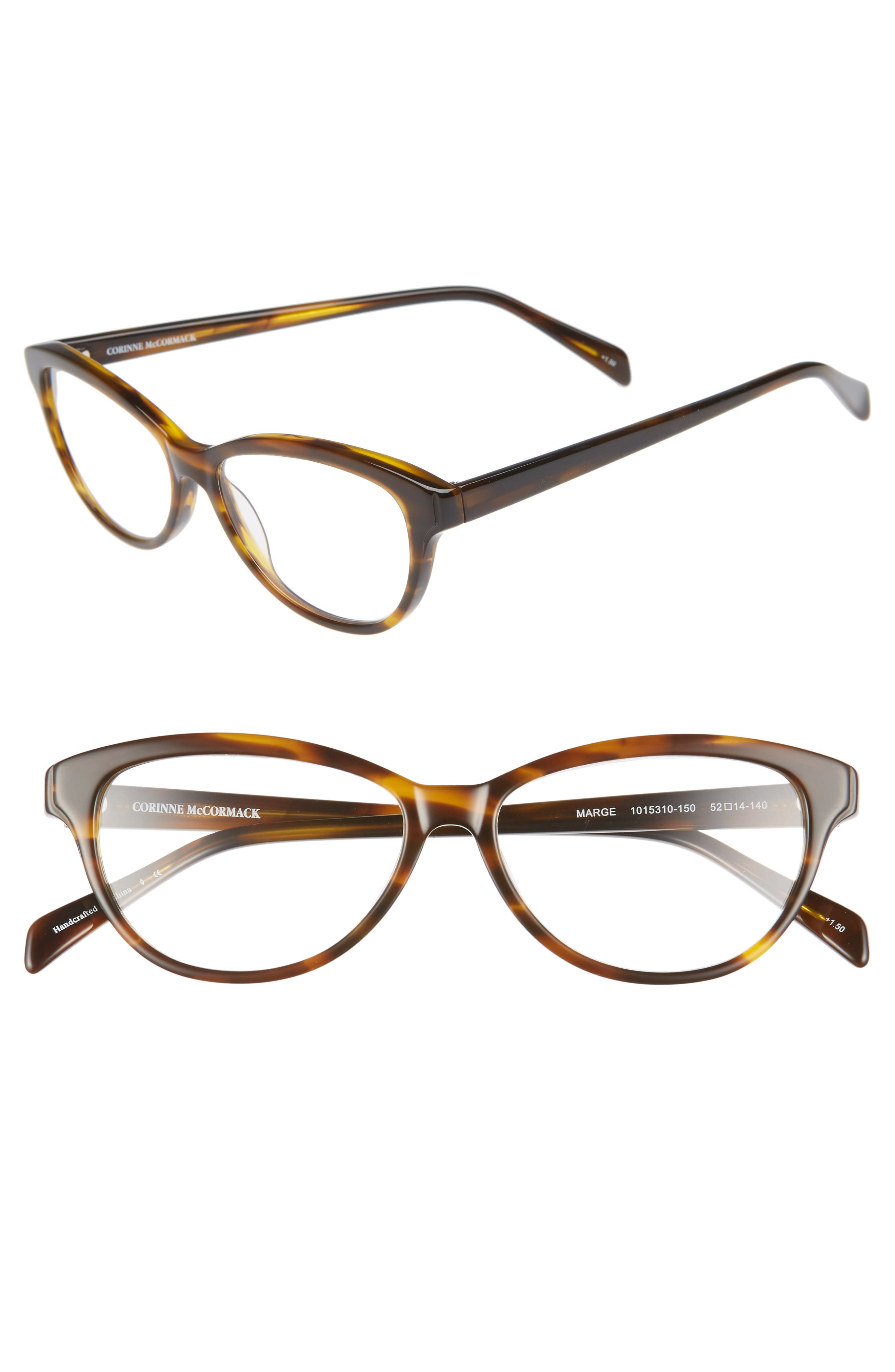 'Marge' 52mm Reading Glasses,                             Main thumbnail 1, color,                             Dark Brown