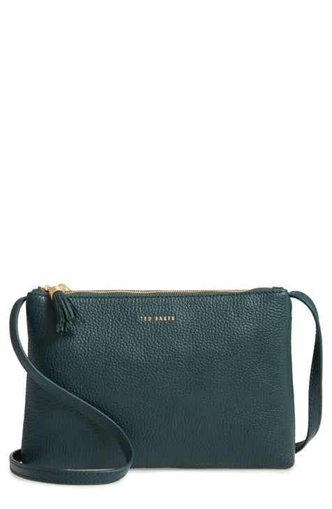 ca43bad4b57 Ted Baker London Maceyy Double Zip Leather Crossbody Bag