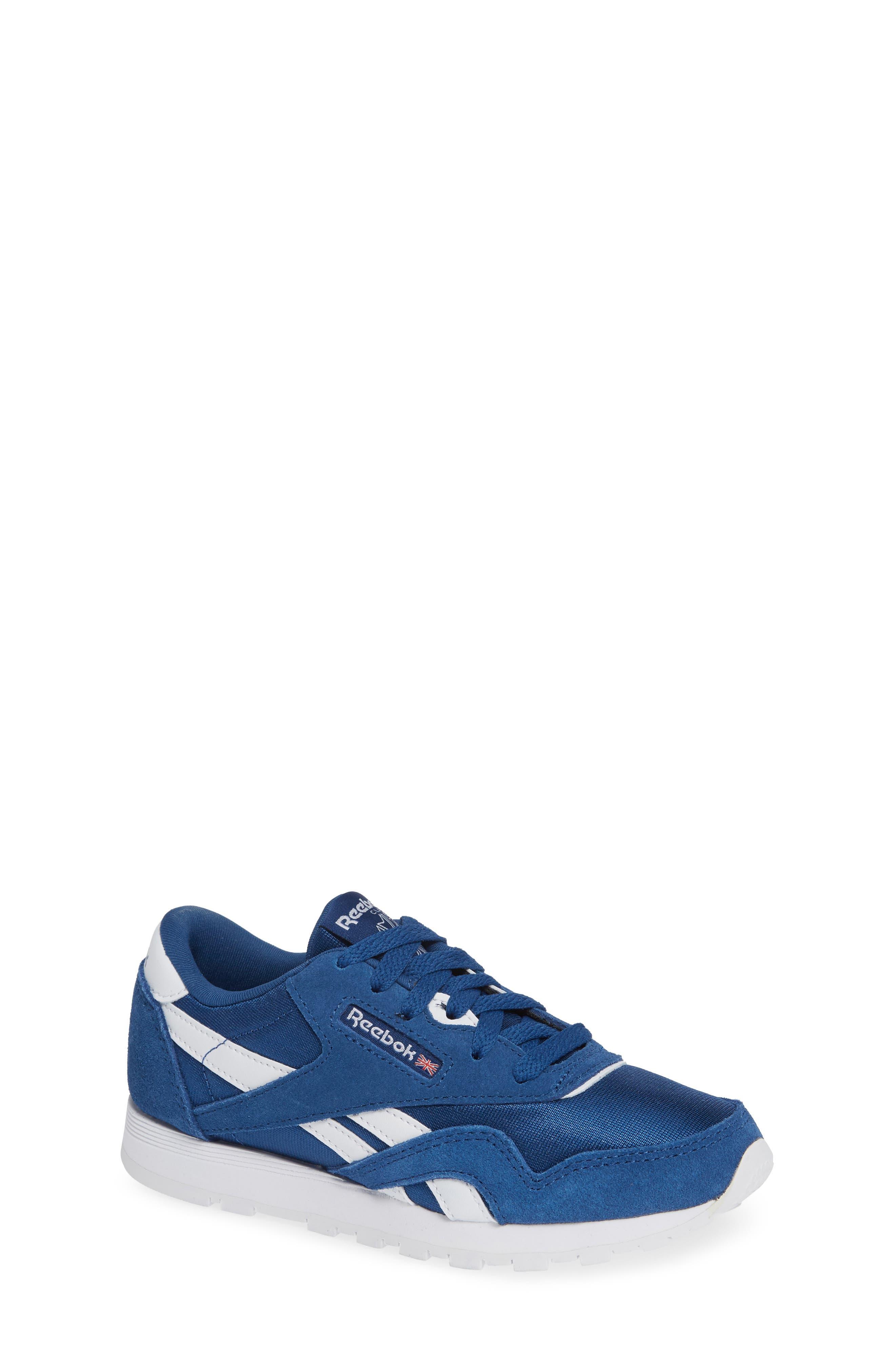 Classic Nylon Sneaker,                             Main thumbnail 1, color,                             Bunker Blue/ White