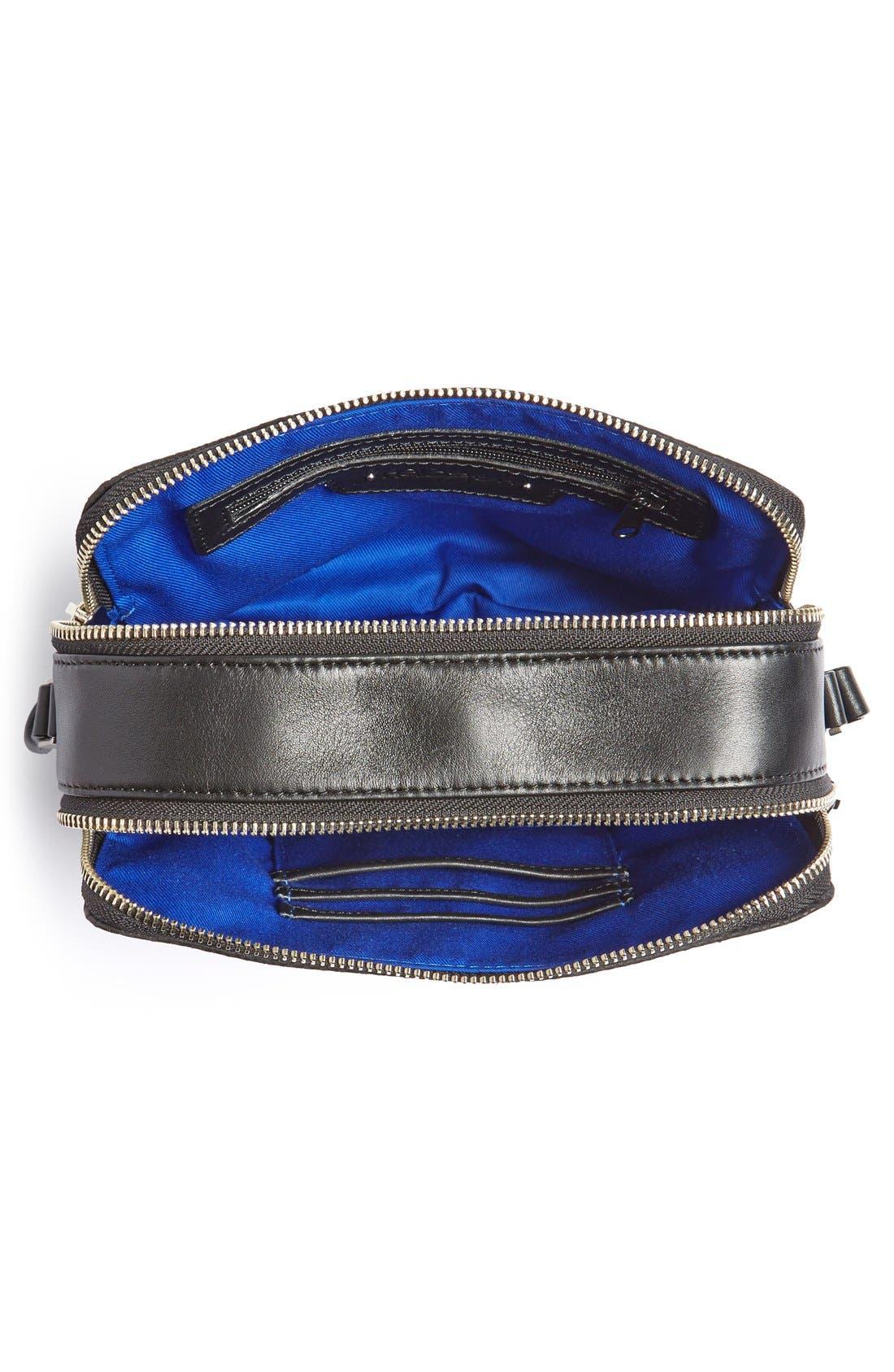 Alternate Image 4  - Halogen® Leather Double Zip Crossbody Bag
