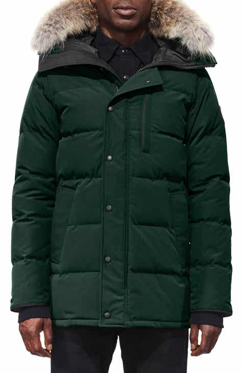 Canada Goose  Carson  Slim Fit Hooded Packable Parka with Genuine Coyote  Fur Trim c8698bcf8