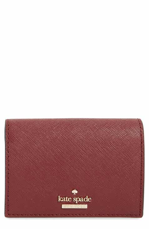 kate spade new york cameron street annabella leather accordion card case - Leather Business Card Case