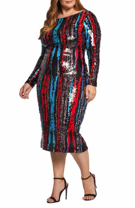 a2aa4d2e8c2c Dress the Population Emery Sequin Body-Con Dress (Plus Size)