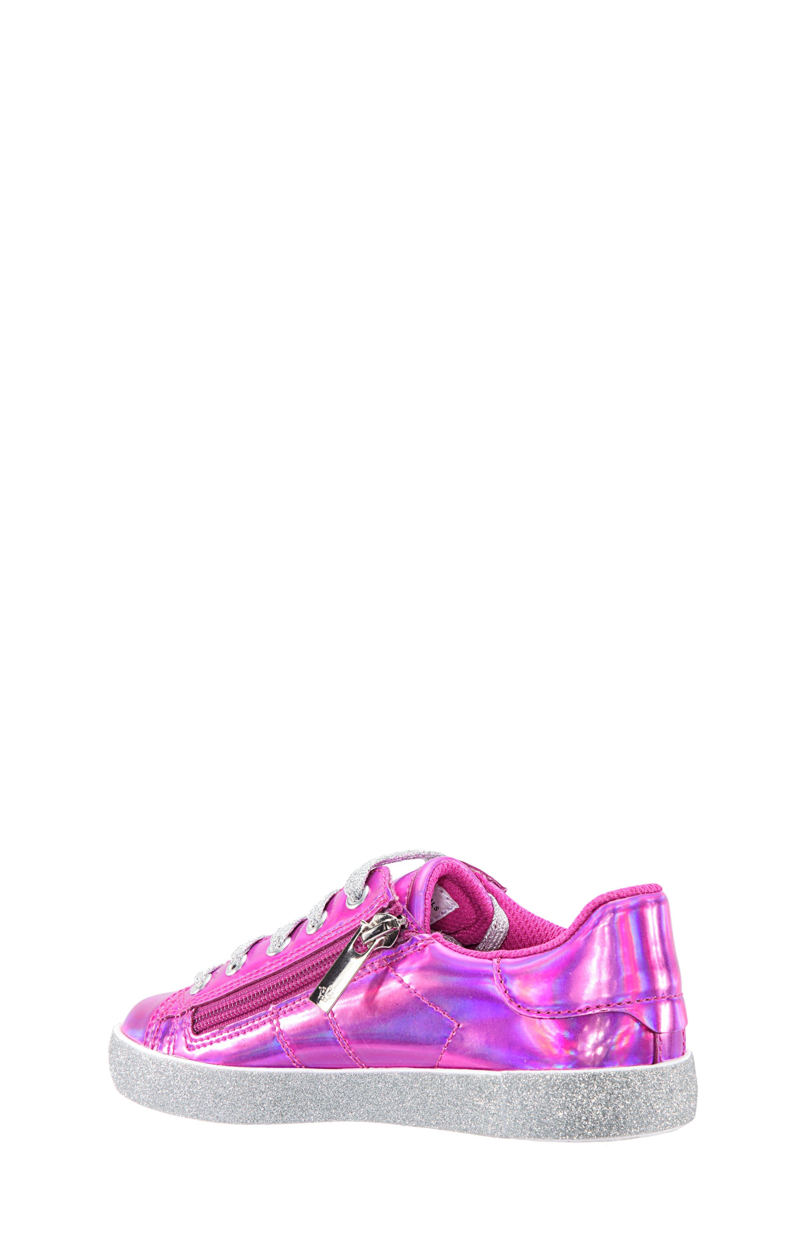 Jovana Glitter Low-Top Sneaker,                             Alternate thumbnail 2, color,                             Pink Patent