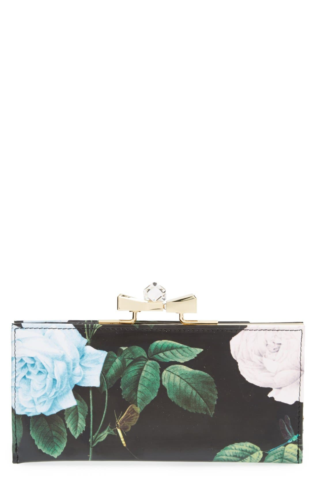 Main Image - Ted Baker London Floral Bow Matinee Wallet