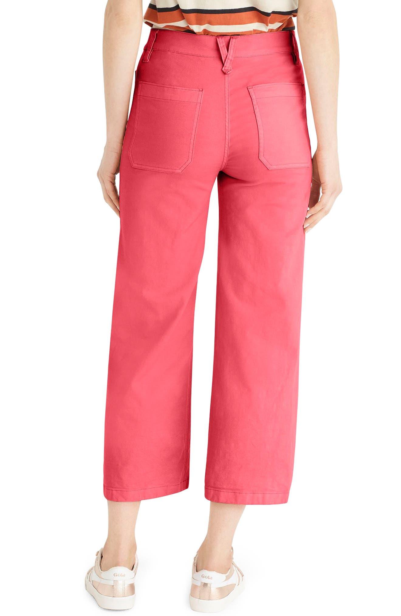 Point Sur Washed Wide Leg Crop Pants,                             Alternate thumbnail 2, color,                             Vintage Rose