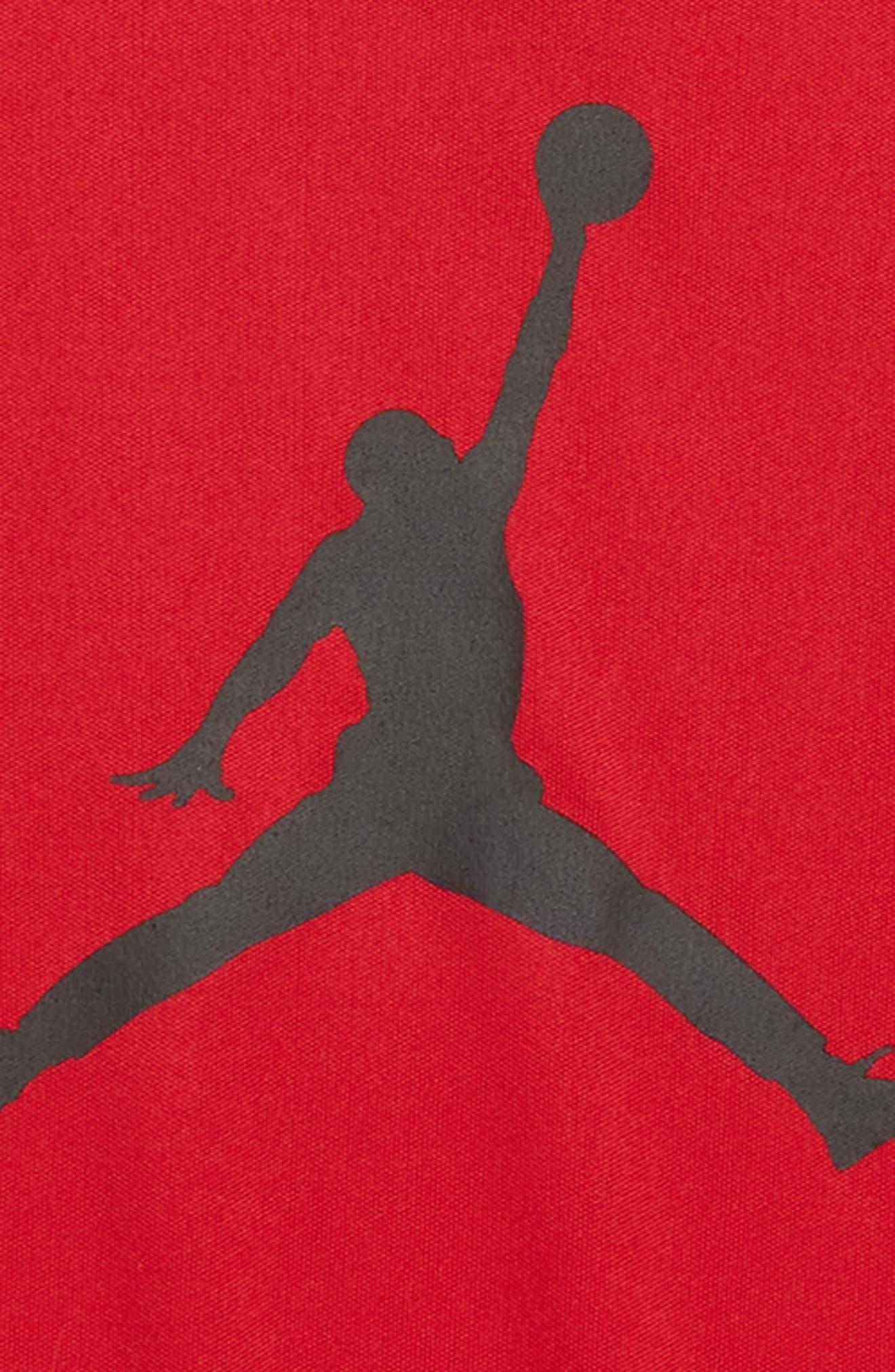 Jordan Jumpman Logo Dry T-Shirt,                             Alternate thumbnail 2, color,                             Gym Red