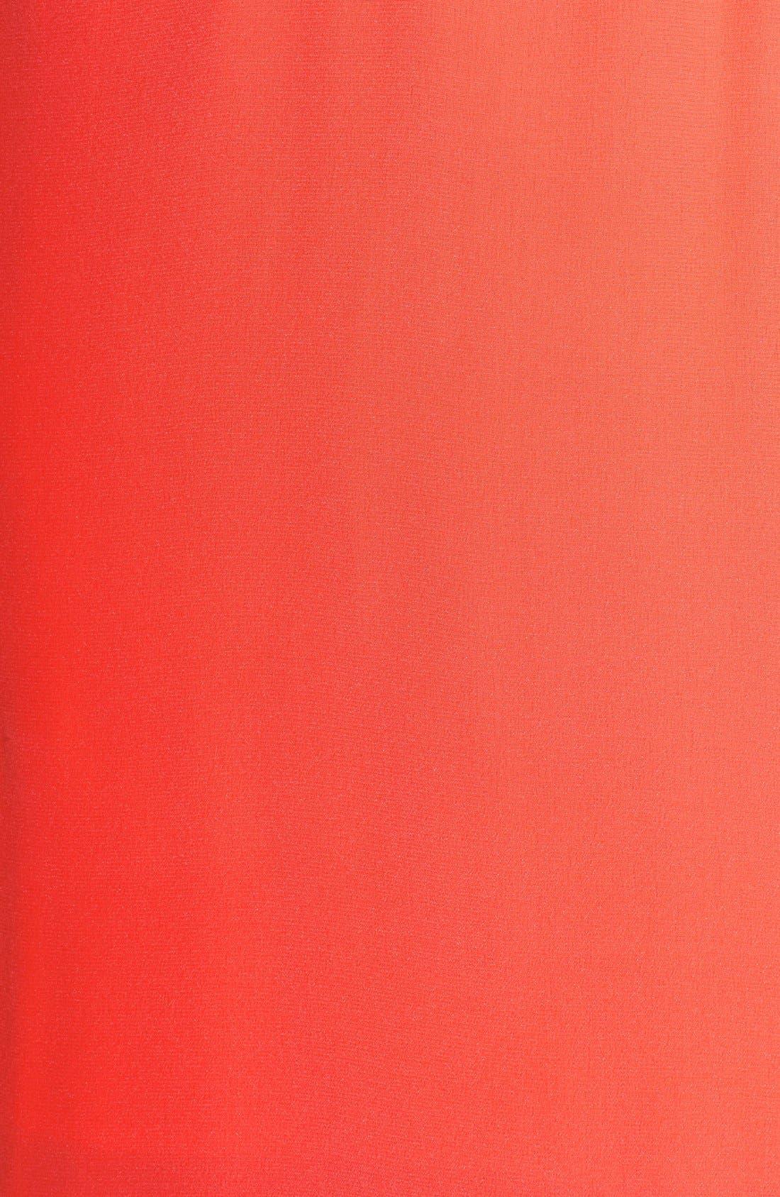 Alternate Image 3  - Myne Strappy Back Silk Crepe Gown