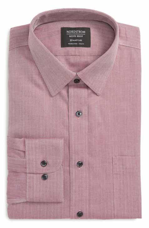 67c3ceef5d Nordstrom Men s Shop Smartcare™ Trim Fit Herringbone Dress Shirt