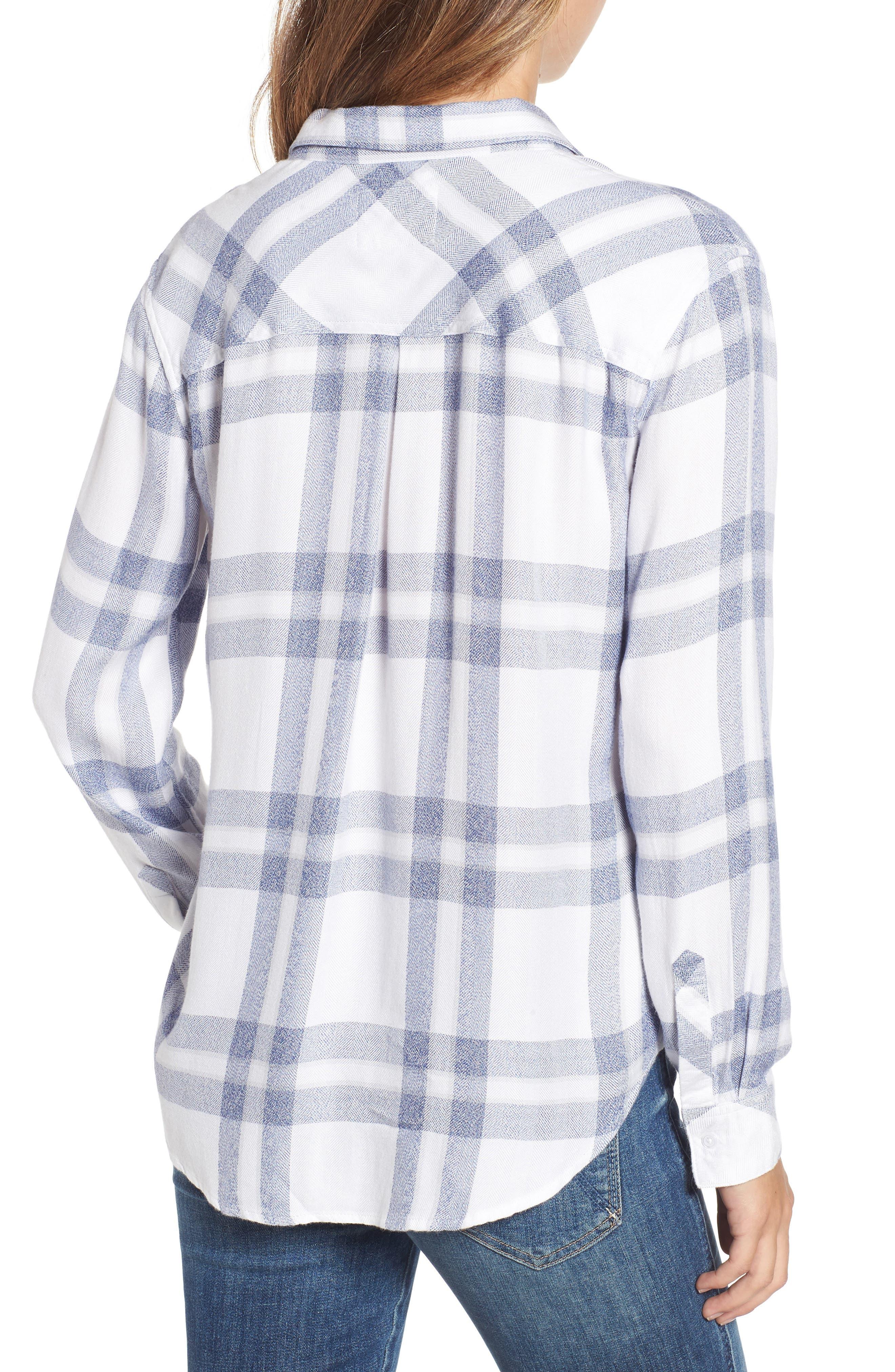 Hunter Plaid Shirt,                             Alternate thumbnail 2, color,                             Riverstone White