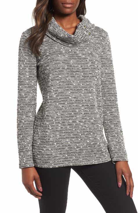 e0ac1ca2485 Chaus Metallic Thread Detail Cowl Neck Sweater