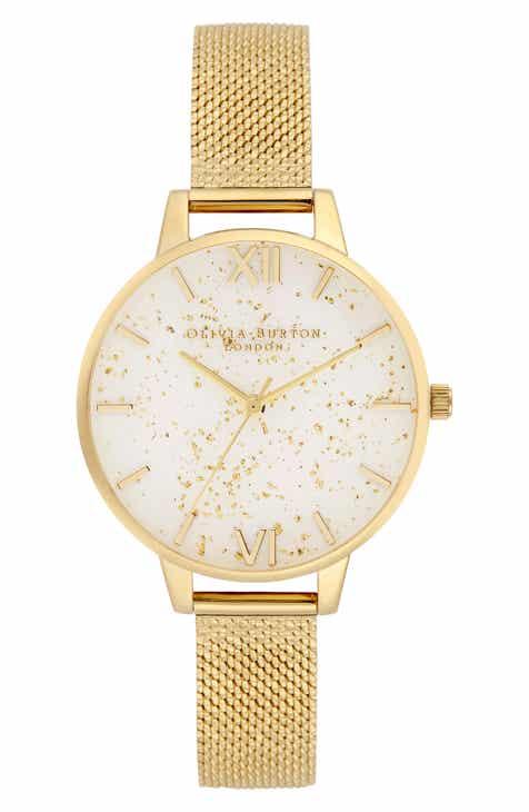 48b76987ef23 Olivia Burton Celestial Mesh Strap Watch