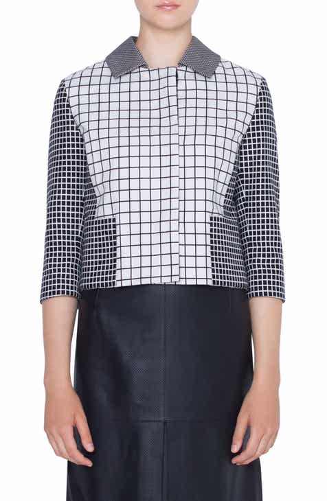 Akris punto Grid Jacquard Jacket by AKRIS PUNTO