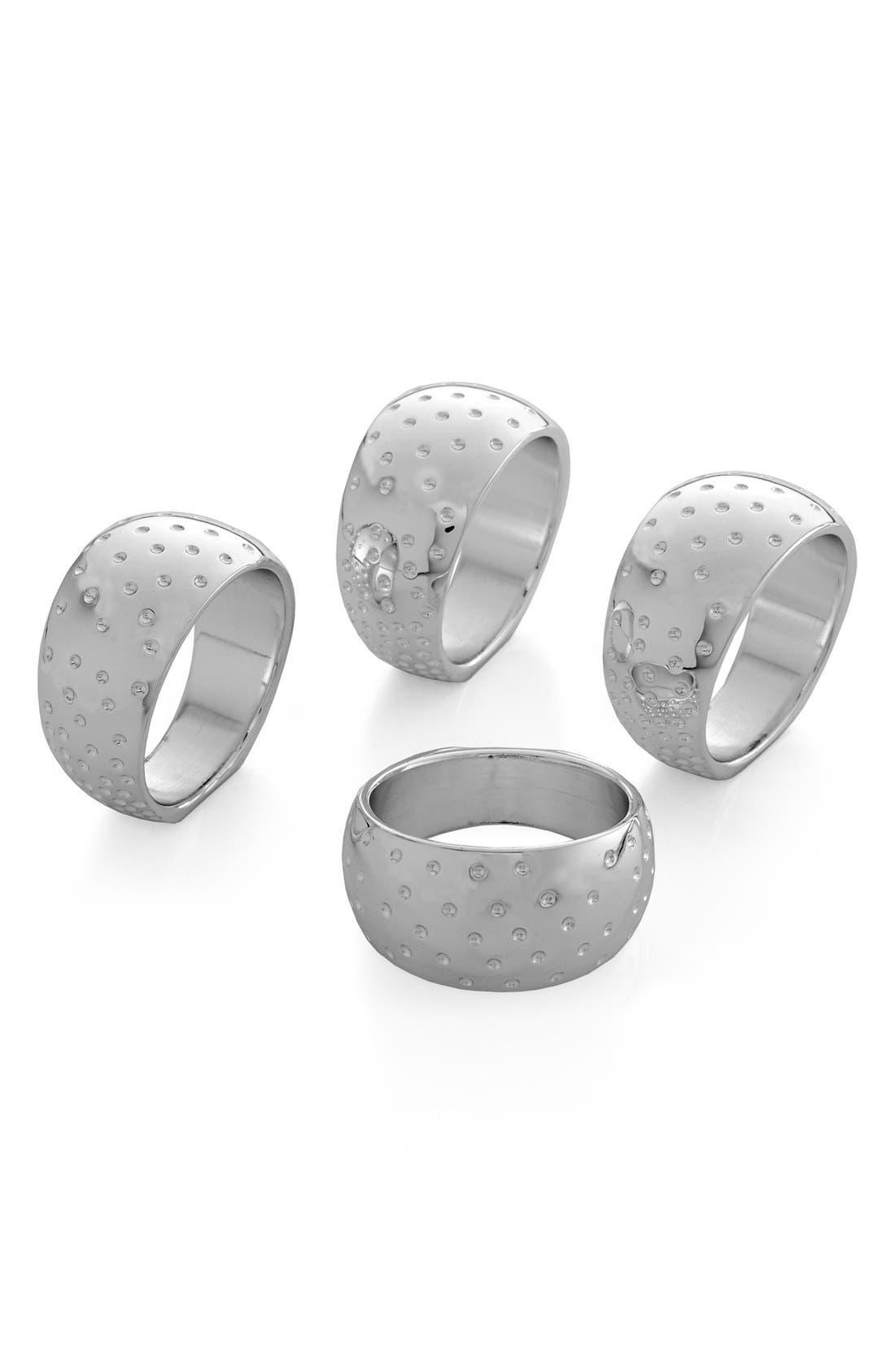 'Dazzle' Napkin Rings,                         Main,                         color, Silver