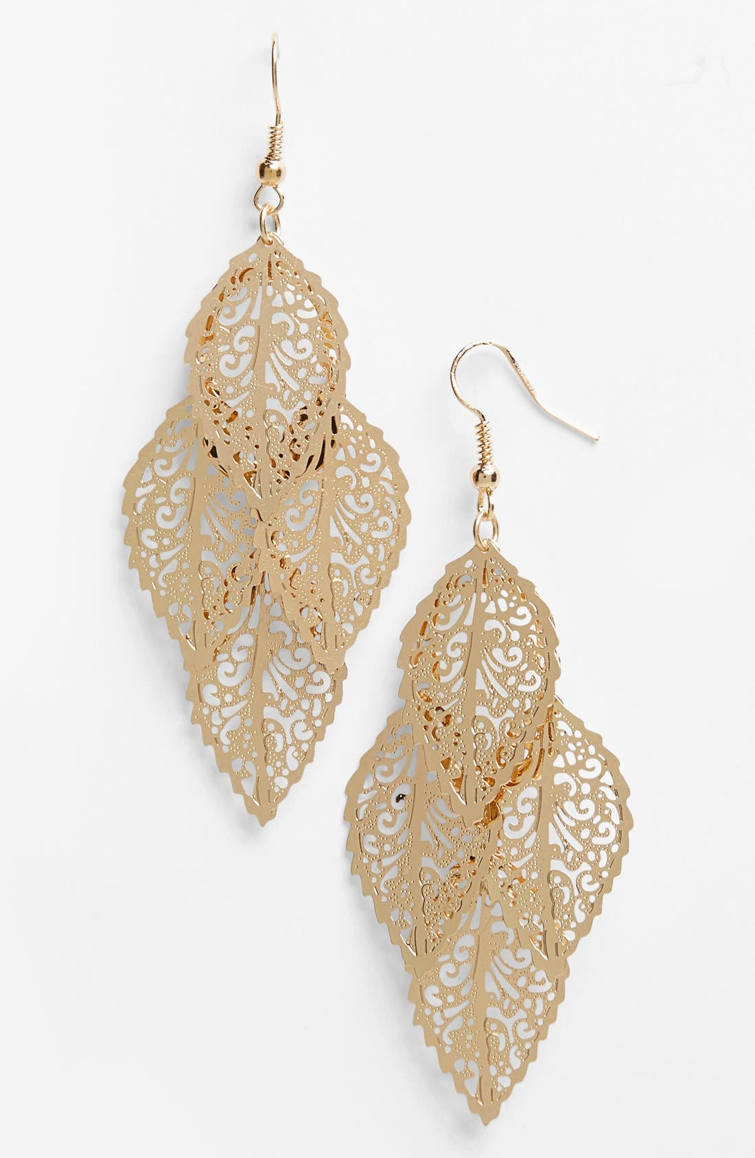 Main Image - BP. Filigree Chandelier Earrings
