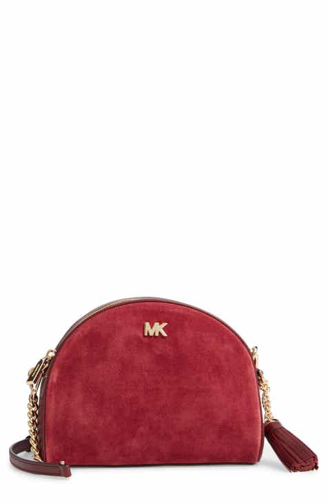 Michael Kors Ginny Half Moon Leather Crossbody Bag