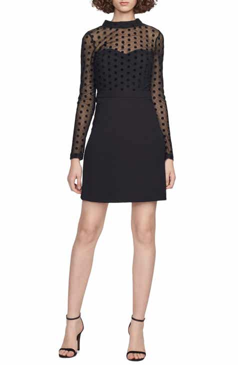 French Connection Leah Mesh & Jersey Minidress