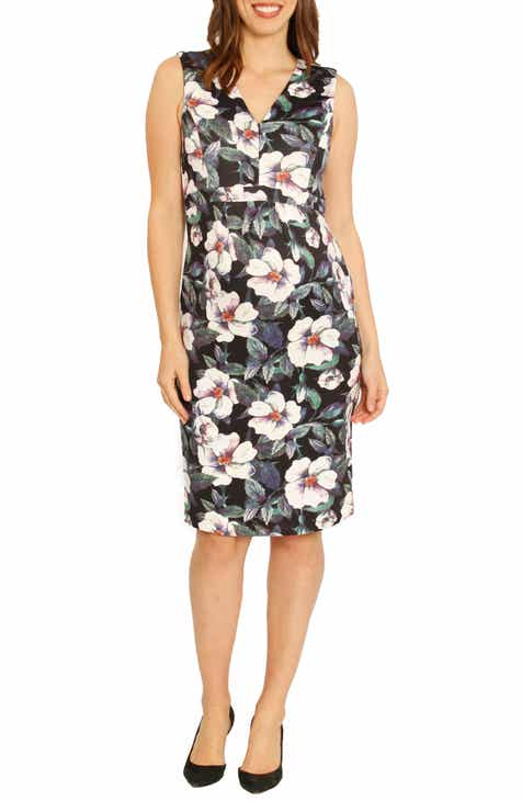 Angel Maternity Sleeveless Floral Print Maternity Dress by ANGEL MATERNITY