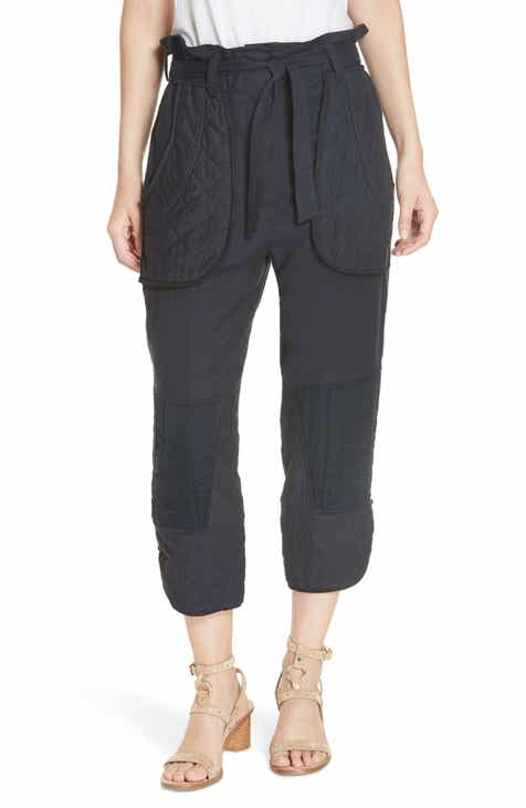 Sea O Keeffe Quilted Patch Crop Pants