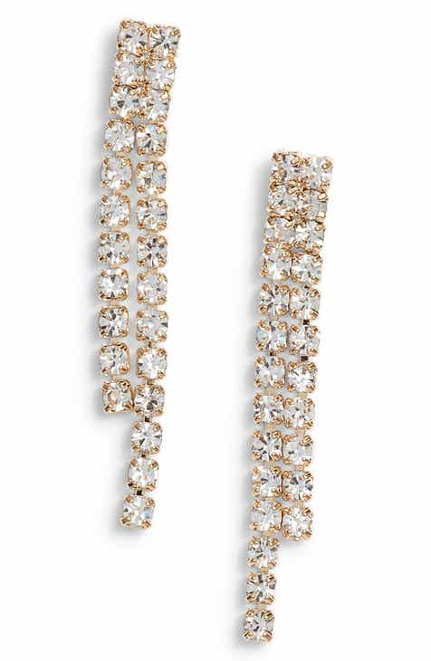 Something Navy Rhinestone Drop Earrings Nordstrom Exclusive