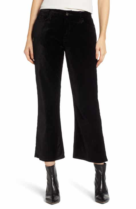 c59c13ee44a JEN7 by 7 For All Mankind Velvet Crop Flare Pants