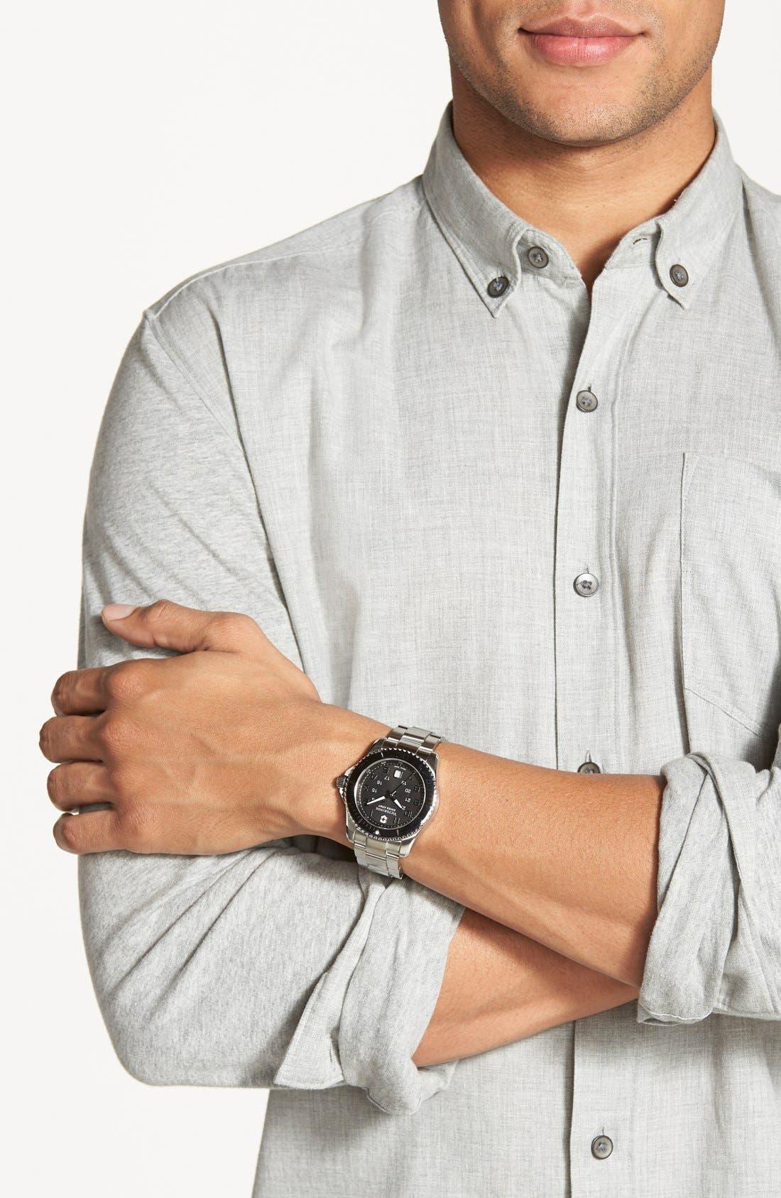 Alternate Image 4  - Victorinox Swiss Army® 'Maverick GS' Stainless Steel Watch, 43mm