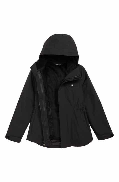 Girls Black Coats Jackets Outerwear Rain Fleece Hood Nordstrom