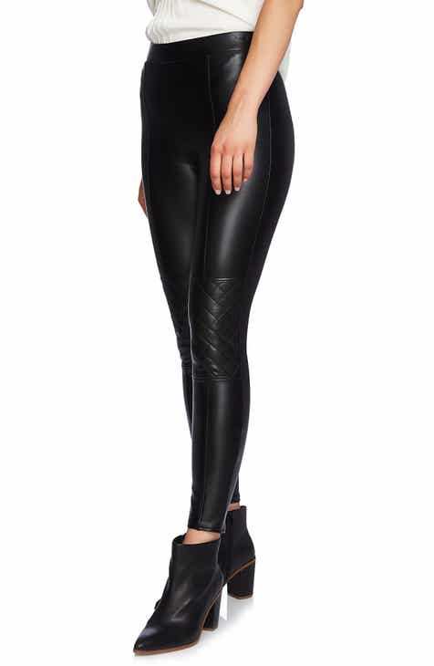 1.STATE Moto Quilted Faux Leather Leggings
