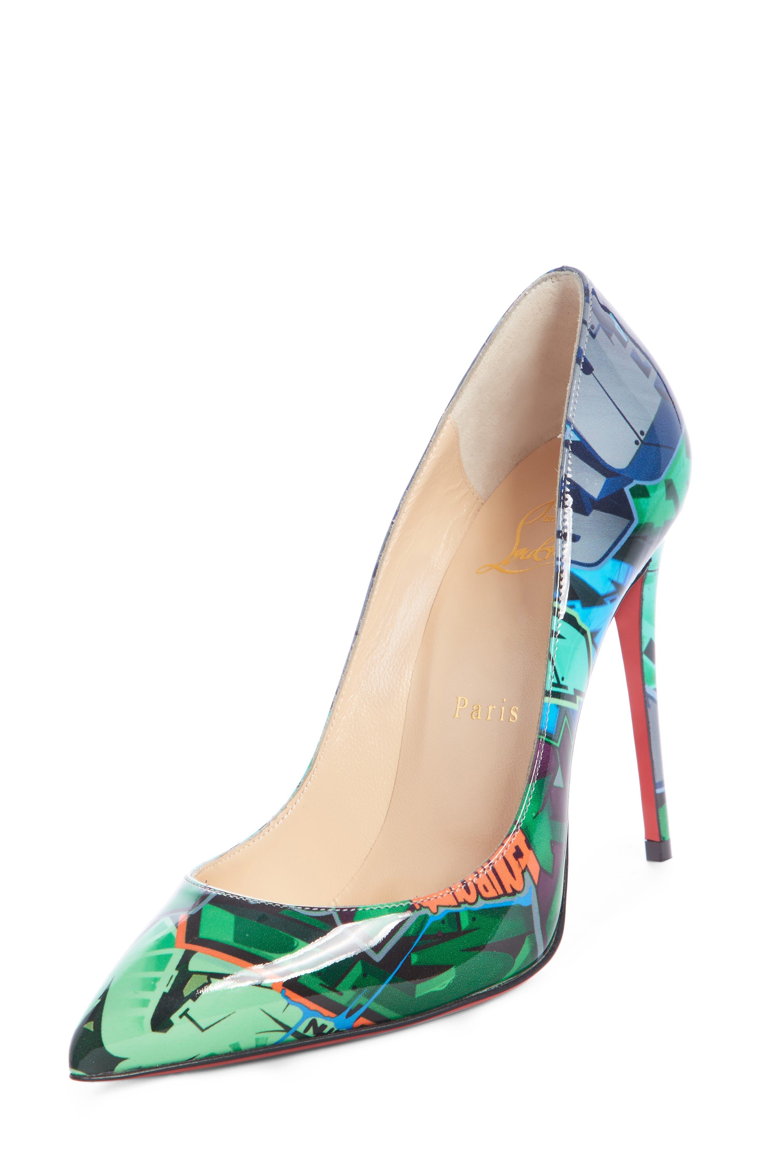 Women's Green Designer Shoes: Heels