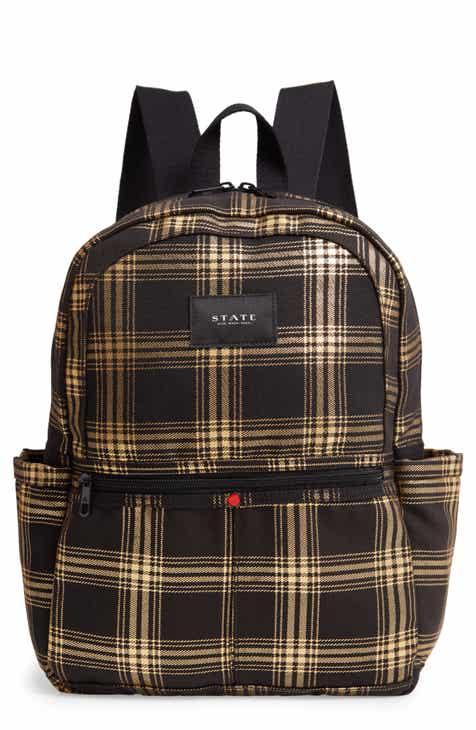 STATE Bags Kane Metallic Plaid Backpack ff2bd00cbd07f