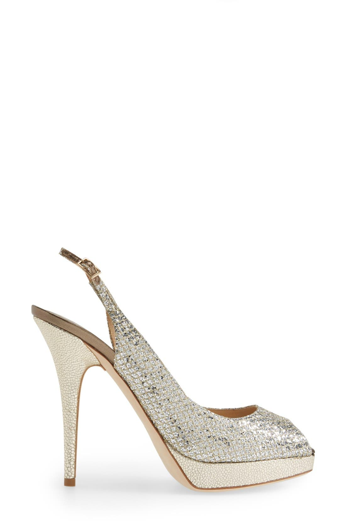 Alternate Image 5  - Jimmy Choo 'Clue' Glitter Slingback Pump (Nordstrom Exclusive Color)
