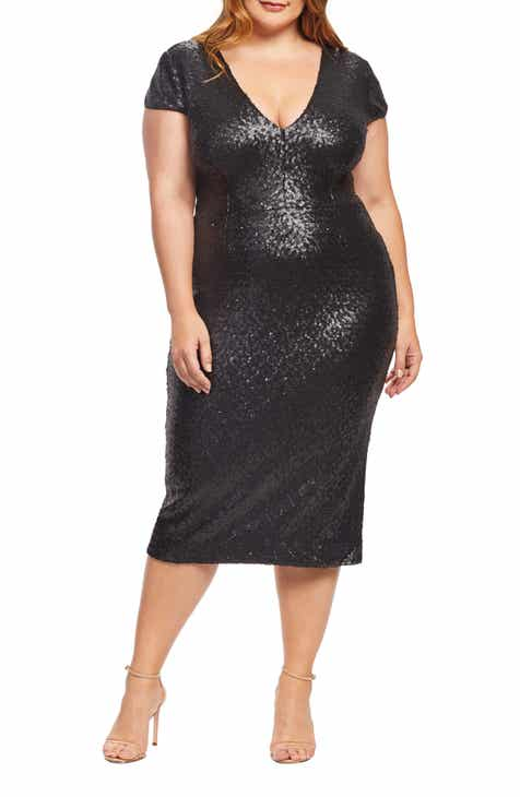 54d384a18c7 Dress the Population Allison Sequin Sheath Dress (Plus Size)