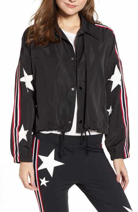Pam & Gela Star Drawstring Track Jacket