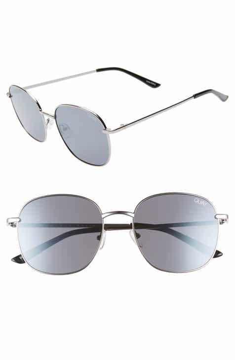 62523d4ab7 Quay Australia Jezabell 57mm Round Sunglasses