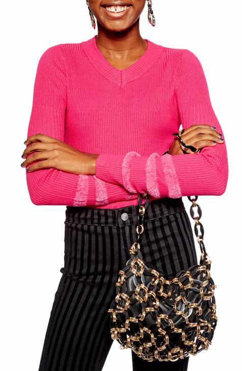 dd264bebb54 Topshop Bouclé Sleeve Sweater