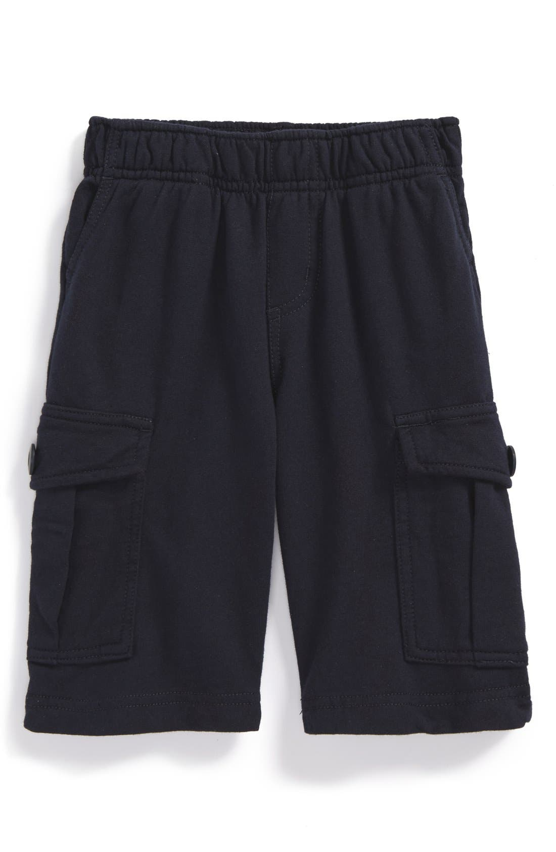 Tea Collection Knit Cargo Shorts (Baby Boys)