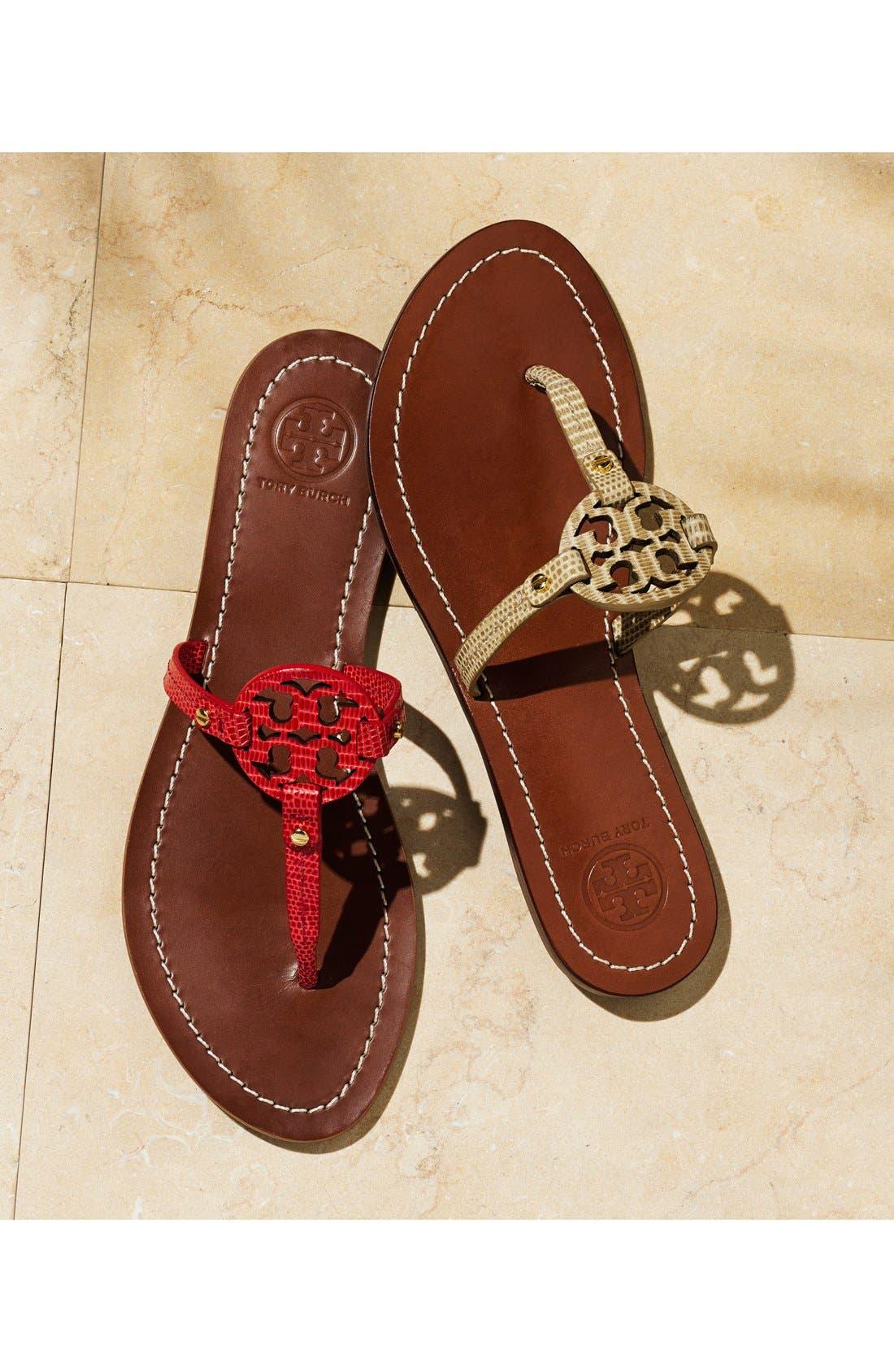 Alternate Image 5  - Tory Burch 'Mini Miller' Leather Thong Sandal (Women)