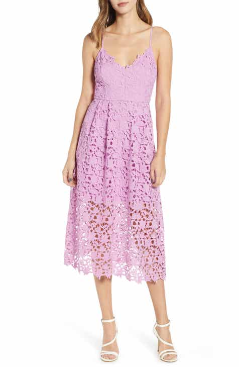 81cec772d8 ASTR the Label Lace Midi Dress
