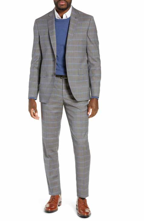 6b4d27356e3f04 Ted Baker London Jay Trim Fit Plaid Wool Suit