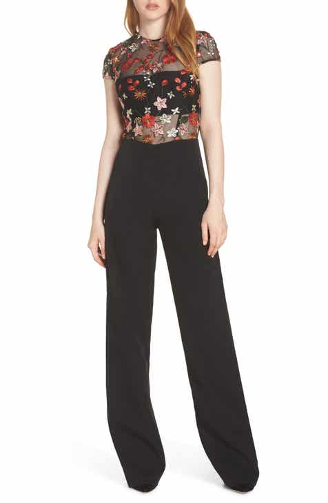 6f893f3d889dd BRONX AND BANCO Embroidered Floral Jumpsuit