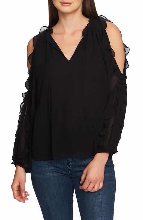 9c72768ec31a6 STATE Ruffle Cold Shoulder Top