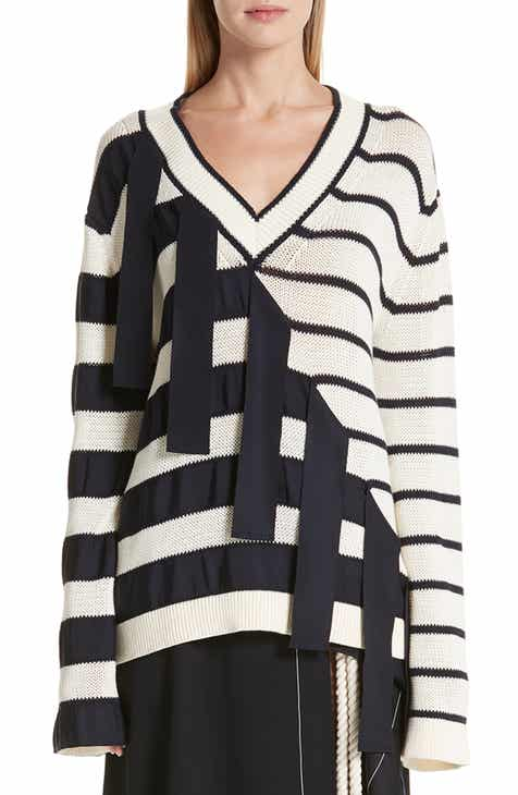 MONSE Grosgrain Stripe Sweater by MONSE