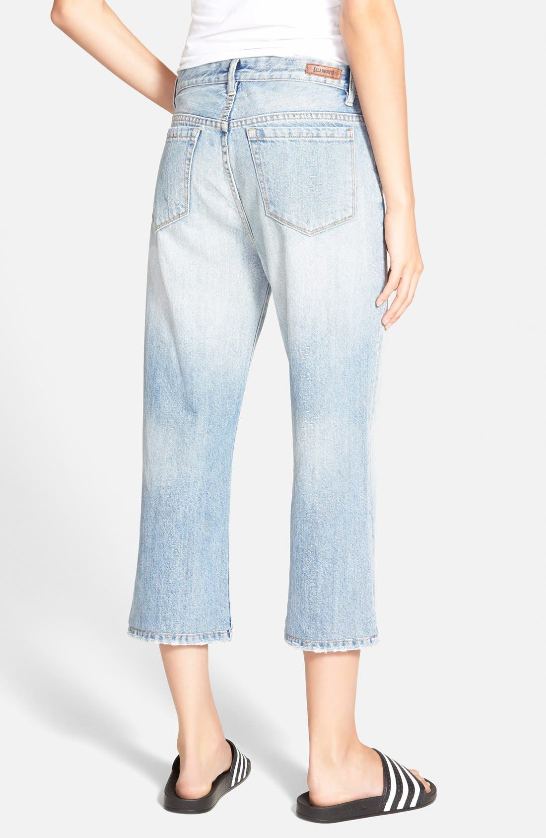 Alternate Image 2  - BLANKNYC 'My Sugar Daddy' Crop Boyfriend Jeans (Blue)
