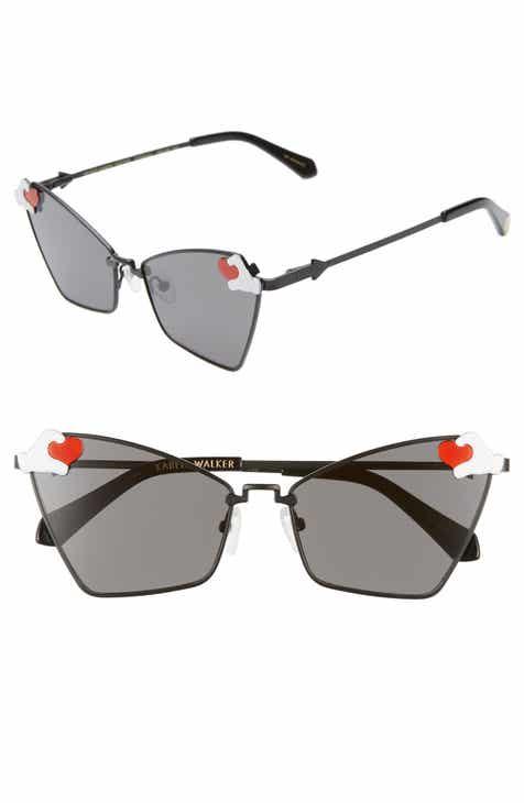 6bca0bf2cf7 Karen Walker x Disney Mickey Mouse Heart Hands 58mm Cat Eye Sunglasses