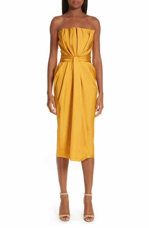 Brandon Maxwell Petal Front Cocktail Dress by BRANDON MAXWELL