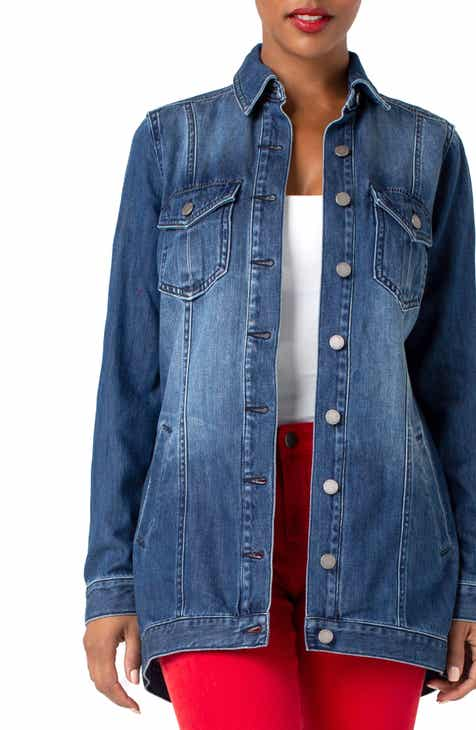Ganni Tiger Print Oversize Denim Jacket by GANNI
