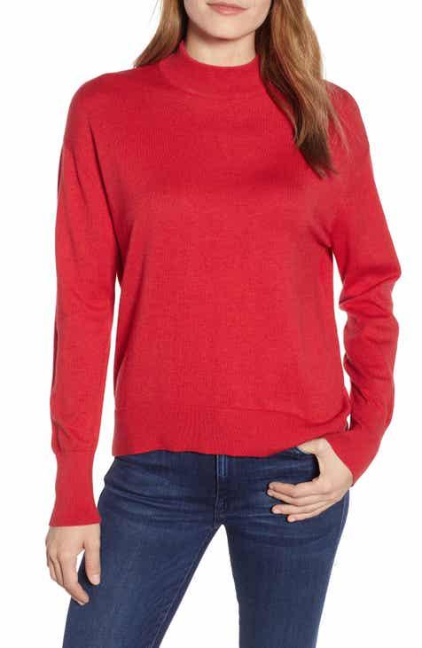 13e7fcdf7c Velvet by Graham   Spencer Mock Neck Cotton   Cashmere Sweater